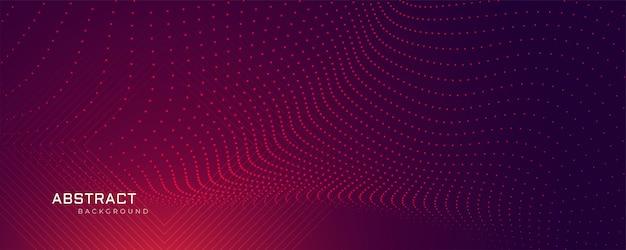 抽象的な粒子ドット背景バナー 無料ベクター