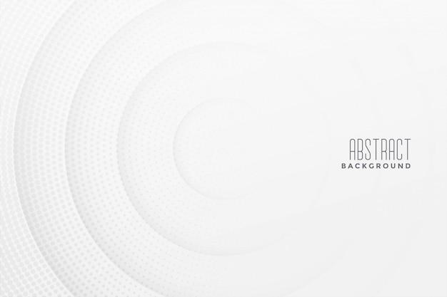 抽象的なハーフトーン白い背景のデザイン 無料ベクター