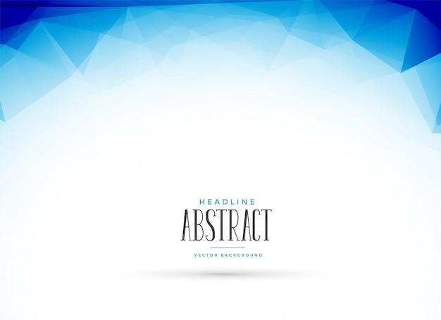 抽象的なクリーンブルー低ポリ幾何学的背景 無料ベクター