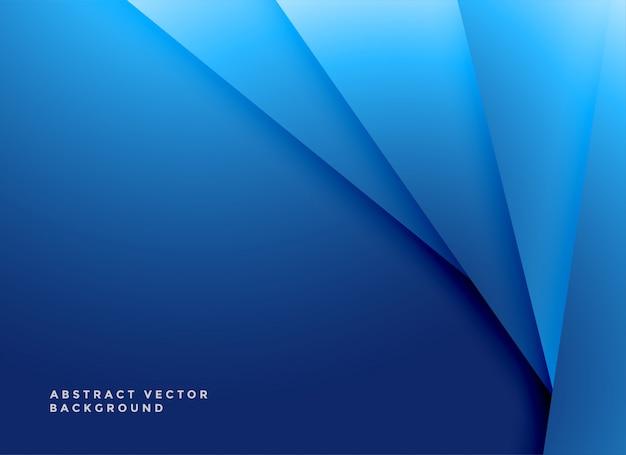 最小限の青色の幾何学的形状の背景 無料ベクター