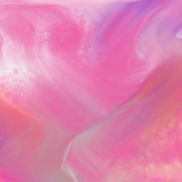 インクの流れを持つ抽象的な水彩の背景 無料ベクター