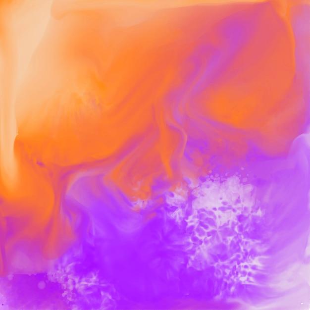 カラフルな抽象的な水彩テクスチャの背景 無料ベクター
