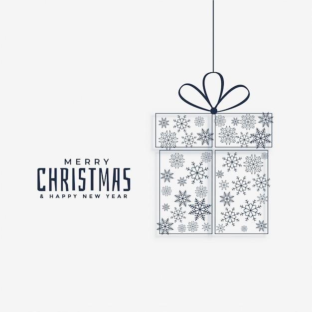 クリスマスプレゼント、雪片で作ったもの 無料ベクター