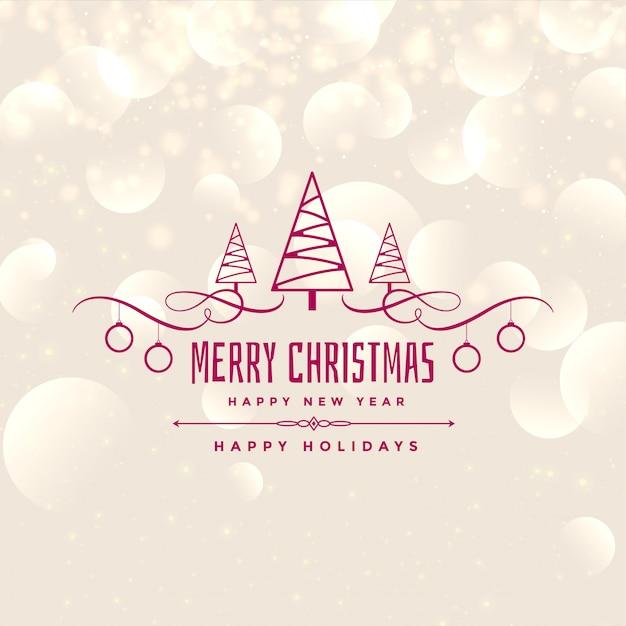 素敵なメリークリスマス光沢のある背景のデザイン 無料ベクター