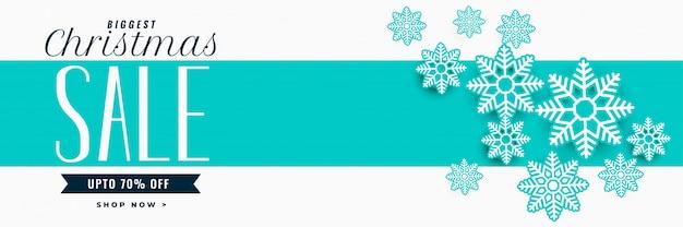 Потрясающая новогодняя распродажа баннер со снежинками украшения Бесплатные векторы