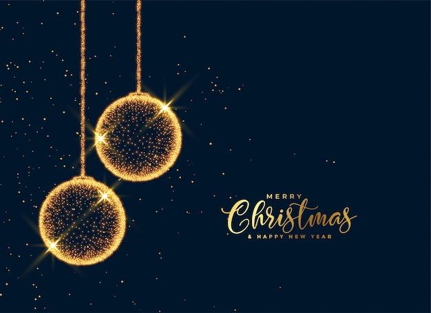 Светящиеся рождественские частицы шары блестящий фон Бесплатные векторы