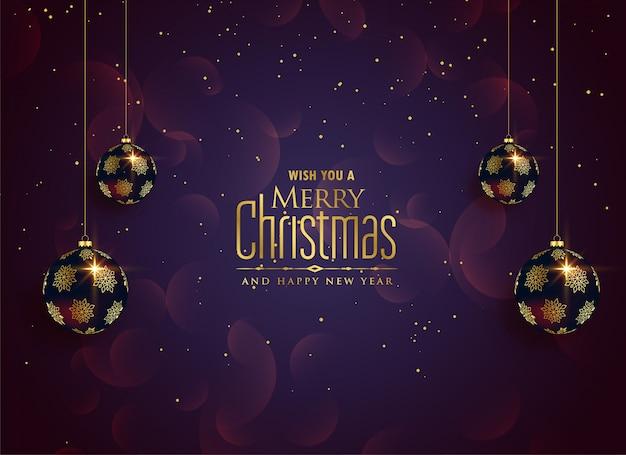 メリークリスマスの美しいお祝いの背景 無料ベクター