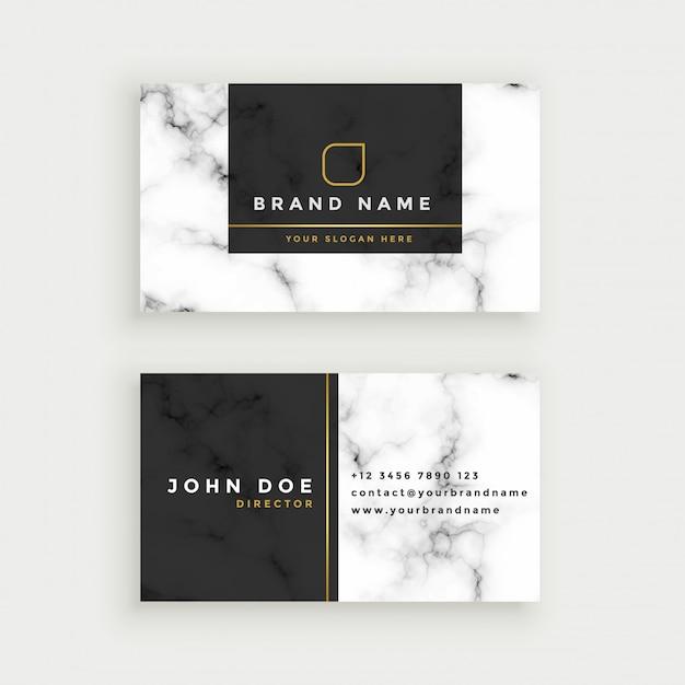 Элегантная мраморная текстура, дизайн визитной карточки Бесплатные векторы