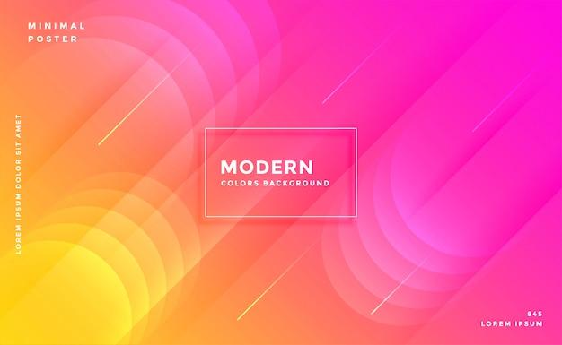 モダンで鮮やかな鮮やかなピンクと黄色のカラフルな背景 無料ベクター