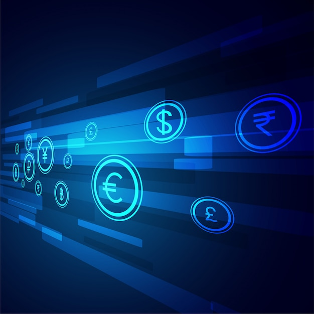 デジタル送金技術の背景 無料ベクター