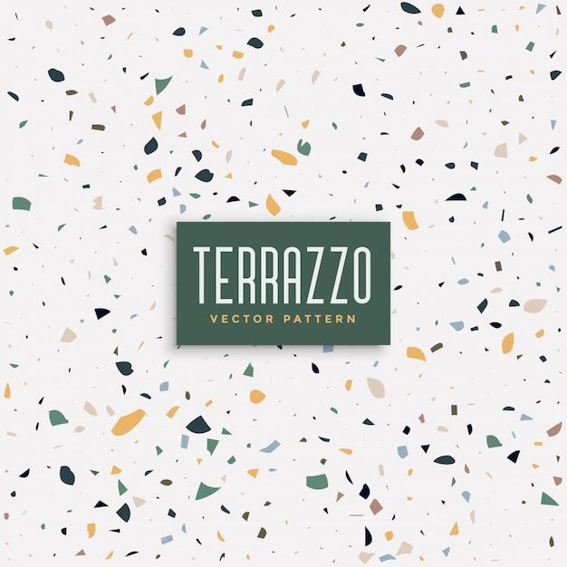 テラゾーの床のテクスチャパターン背景 無料ベクター