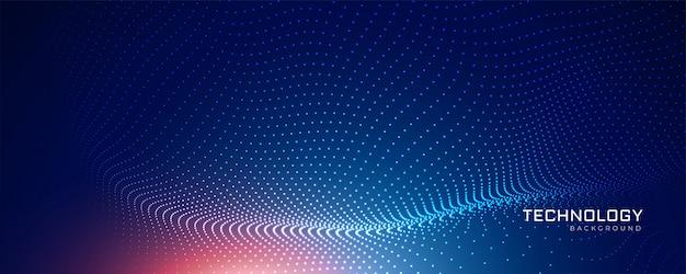 抽象的なブルーテクノロジー粒子の背景 無料ベクター