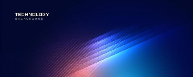 Стильный синий свет технологии фона Бесплатные векторы
