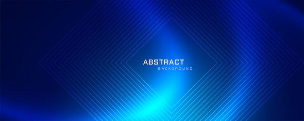 Абстрактные технологии синий фон сетки и линии Бесплатные векторы