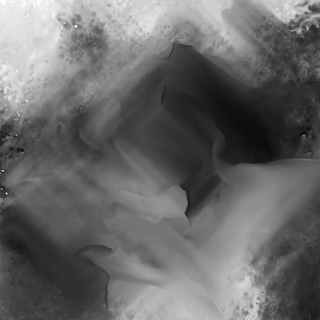 抽象的な黒水彩テクスチャ背景 無料ベクター
