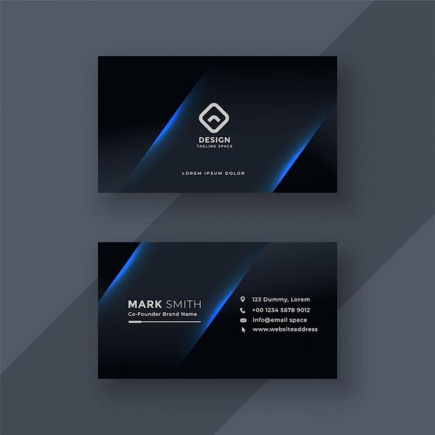 Темный дизайн визитной карточки Бесплатные векторы