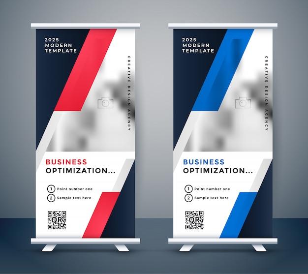 Современный бизнес вертикальный дизайн Бесплатные векторы