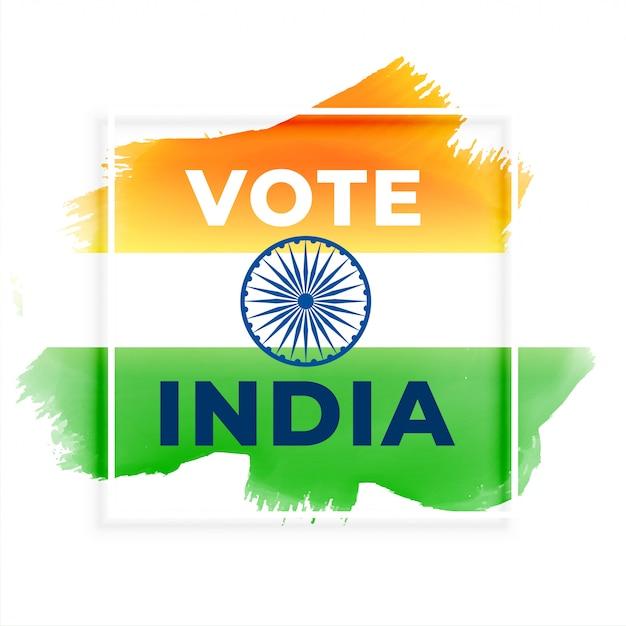 Абстрактное голосование выборы фон индии Бесплатные векторы