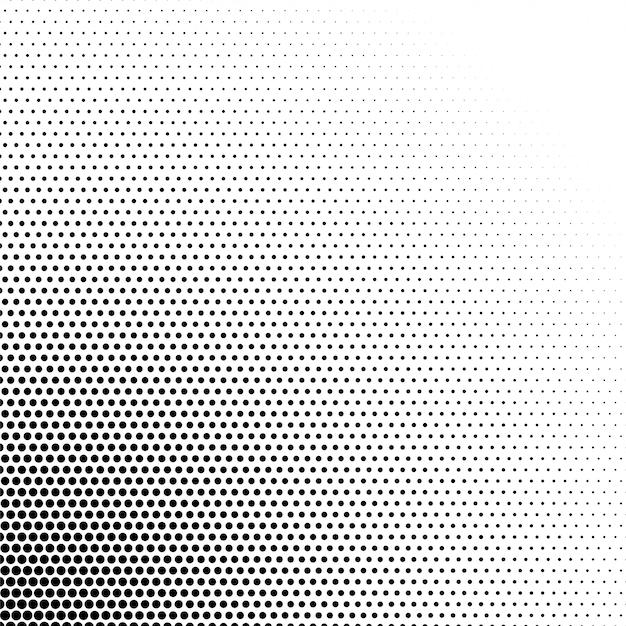 黒と白のハーフトーンパターンの背景 無料ベクター