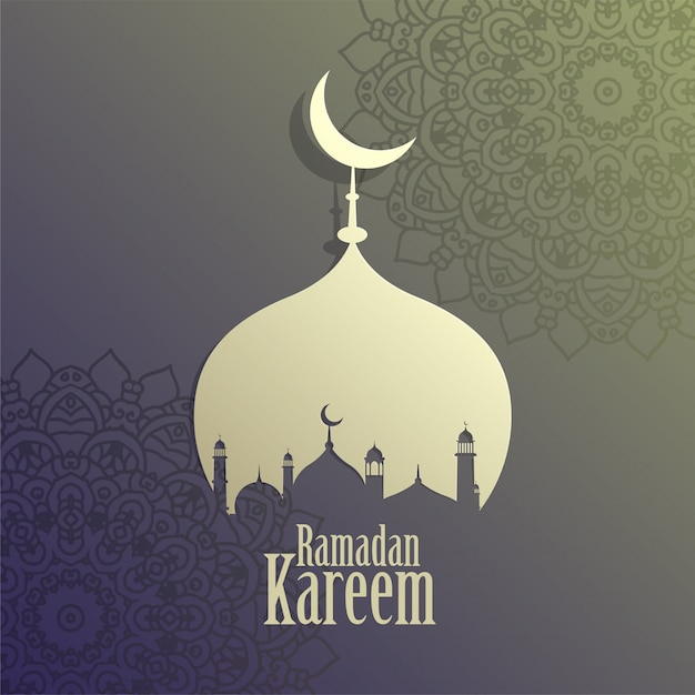 創造的なラマダンカリームイスラムモスクの背景 無料ベクター