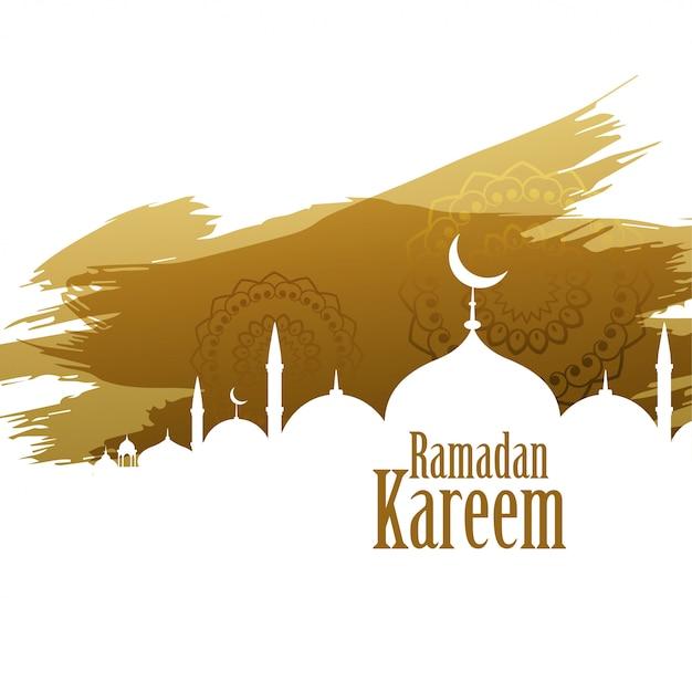 Рамадан карим абстрактный стиль фона Бесплатные векторы