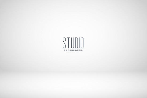 ホワイトスタジオの空の部屋の背景 無料ベクター