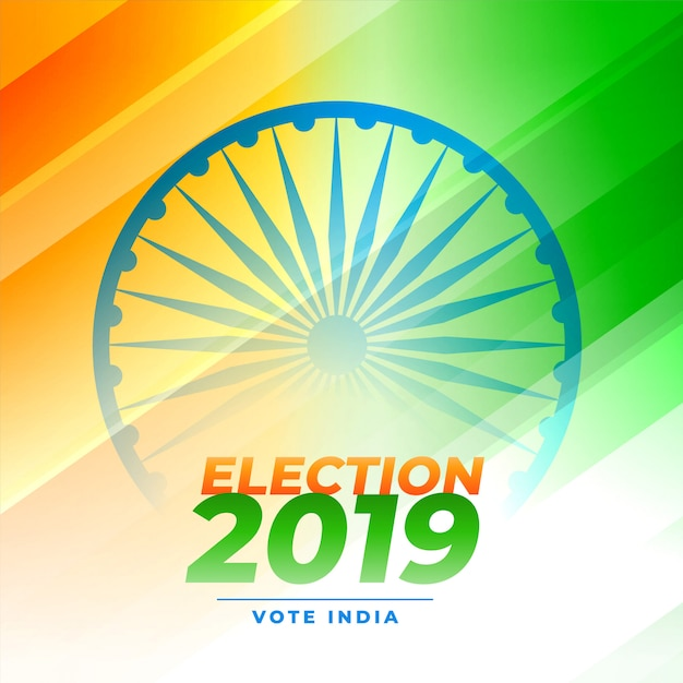 Индийский дизайн голосования на выборах Бесплатные векторы