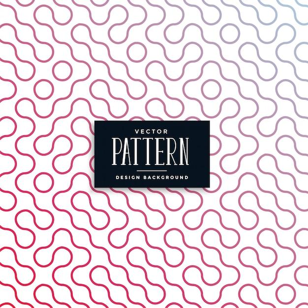 抽象的なラチェット曲線タイルのシームレスパターン 無料ベクター