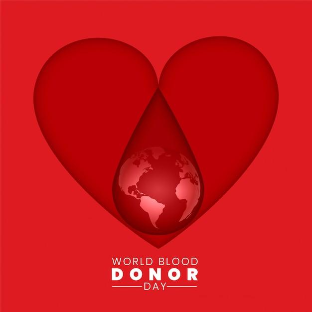 世界献血者デーの背景のコンセプト 無料ベクター