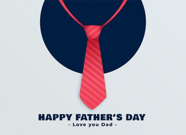 幸せな父親の日赤いネクタイの背景 無料ベクター