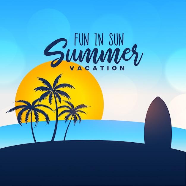 Летние каникулы фон Бесплатные векторы