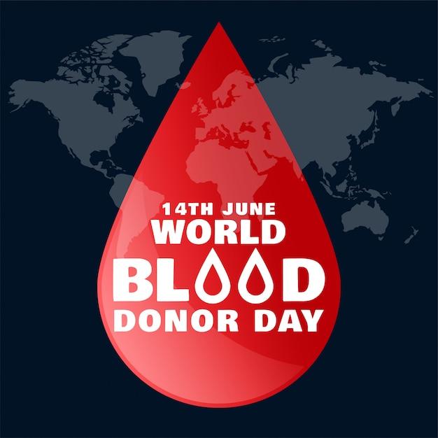 Всемирный день донора крови в июне Бесплатные векторы