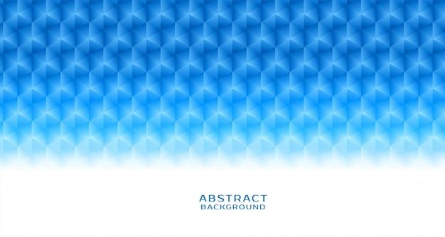 抽象的なブルーの六角形パターンの背景 無料ベクター