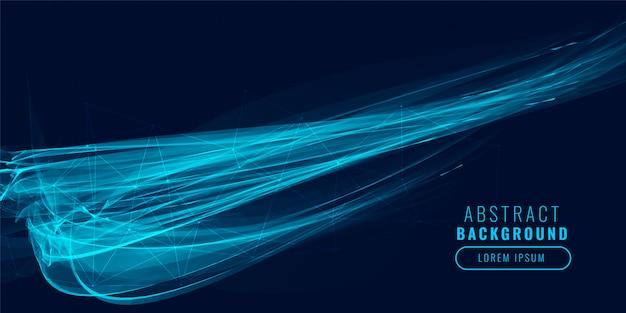 抽象的な青い光の効果の背景 無料ベクター
