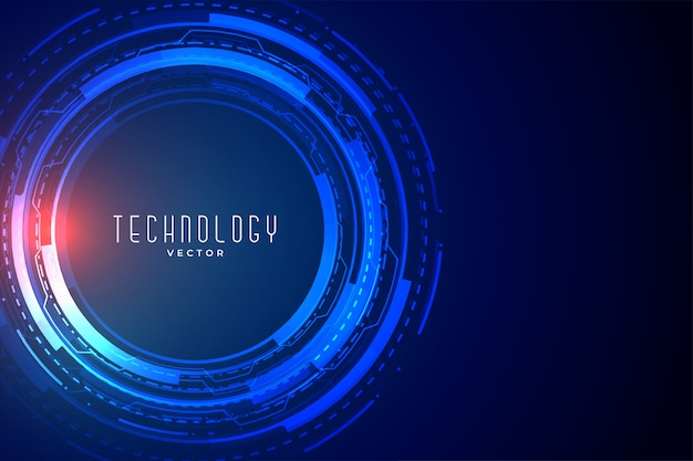 未来技術データ可視化バナー 無料ベクター