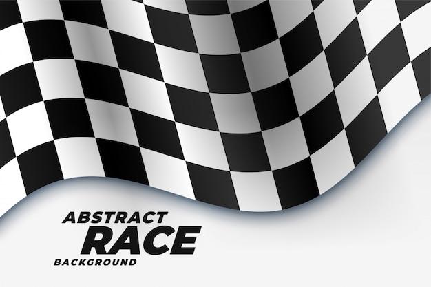 市松模様のレース旗スポーツの背景 無料ベクター