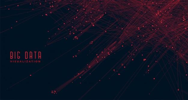 ビッグデータ可視化コンセプトの背景 無料ベクター