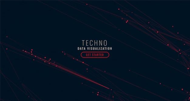 抽象的なデジタルビッグデータの可視化の背景 無料ベクター