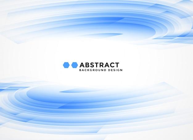 抽象的な青い波状図形の背景 無料ベクター