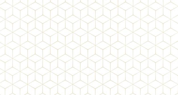 スタイリッシュな六角形の線のパターンの背景 無料ベクター