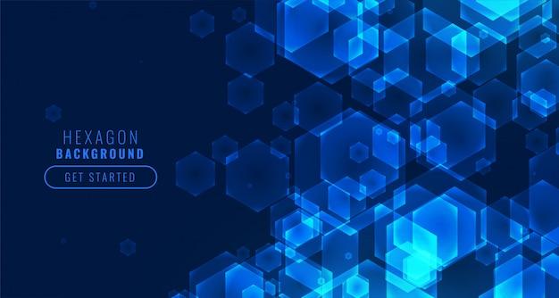 未来的なデジタル六角形形状技術の背景 無料ベクター
