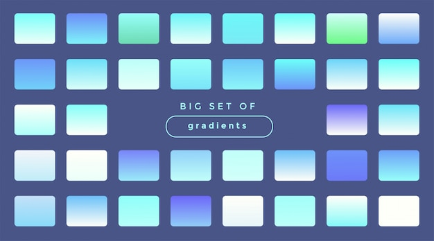 ソフトホログラフィックグラデーションビッグセット 無料ベクター
