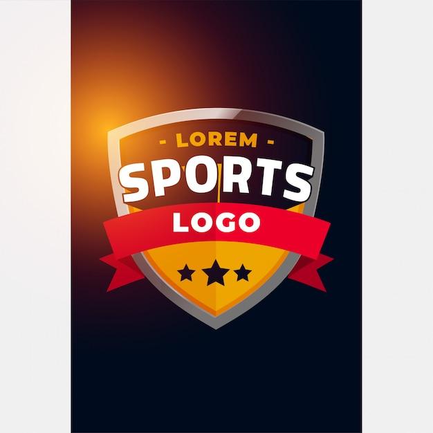 スポーツとトーナメントのロゴのコンセプト 無料ベクター