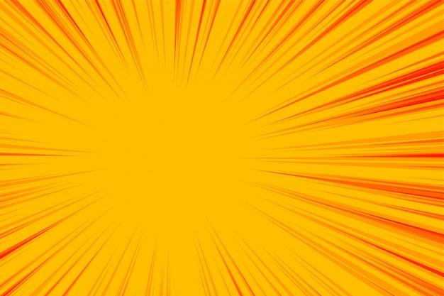 抽象的な黄色ズームライン空の背景 無料ベクター