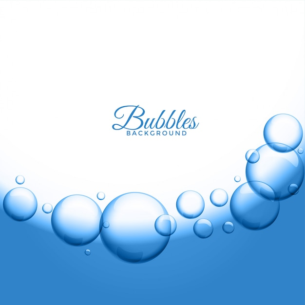 抽象的な水や石鹸の泡の背景 無料ベクター
