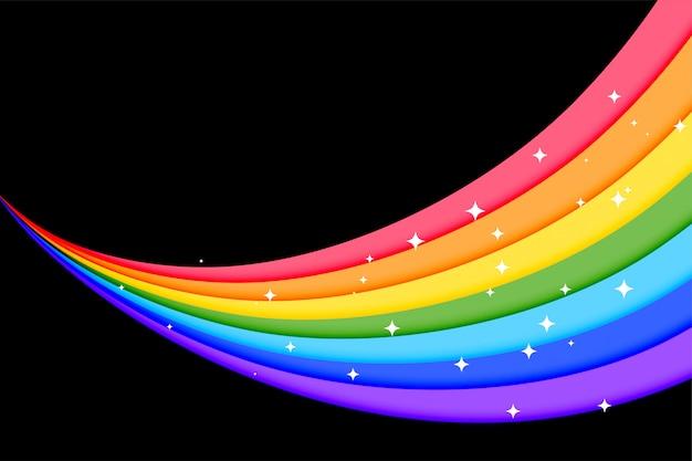 素敵な虹のカラフルな線の背景 無料ベクター
