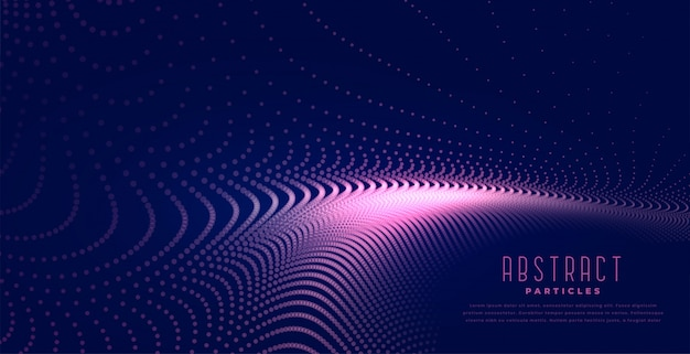 抽象的なデジタル粒子波の光の背景 無料ベクター