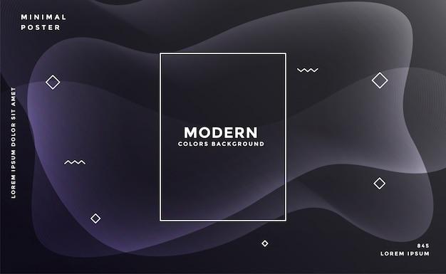 Черный фон с абстрактными светящимися формами Бесплатные векторы