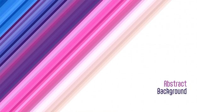 抽象的な活気のある滑らかな斜めの線の背景 無料ベクター