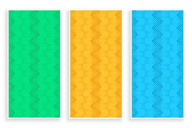 Абстрактная зигзагообразная линия стильный баннер Бесплатные векторы
